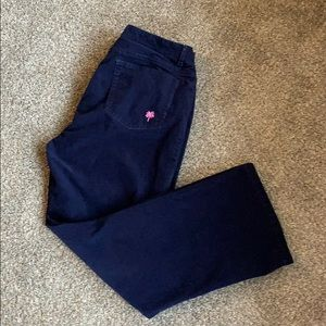 Navy corduroy Lilly Pulitzer jeans